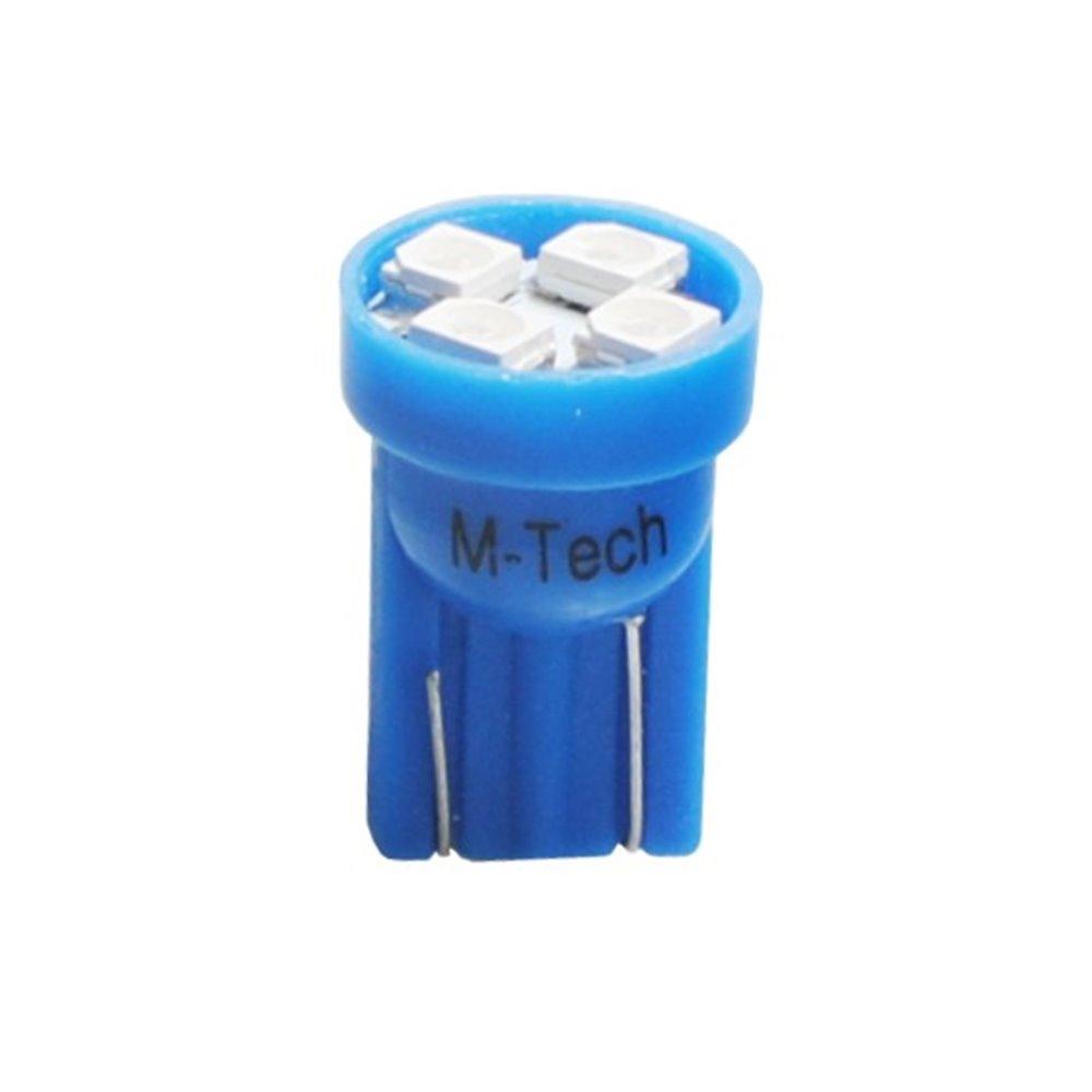 LED L017B - W5W 4xSMD3528 Blue