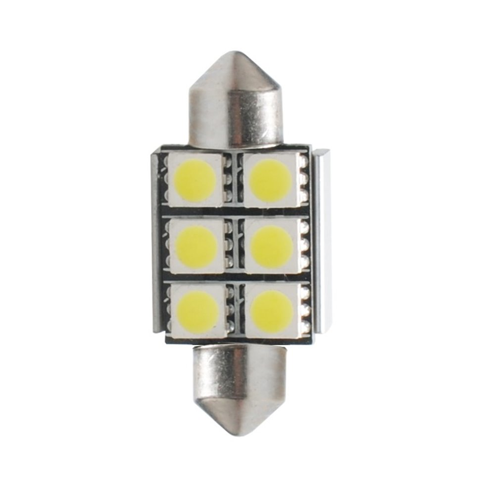 LED L306W - C5W 36mm 6xSMD5050 Radiator CANBUS WhiteLED L306W - C5W 36mm, 6x SMD5050, radiator. CANBUS, white