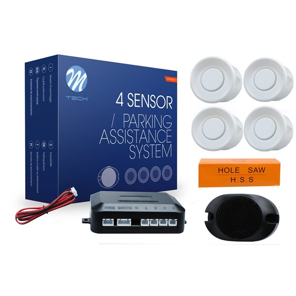 Parking assist system - CP7 with buzzer - white