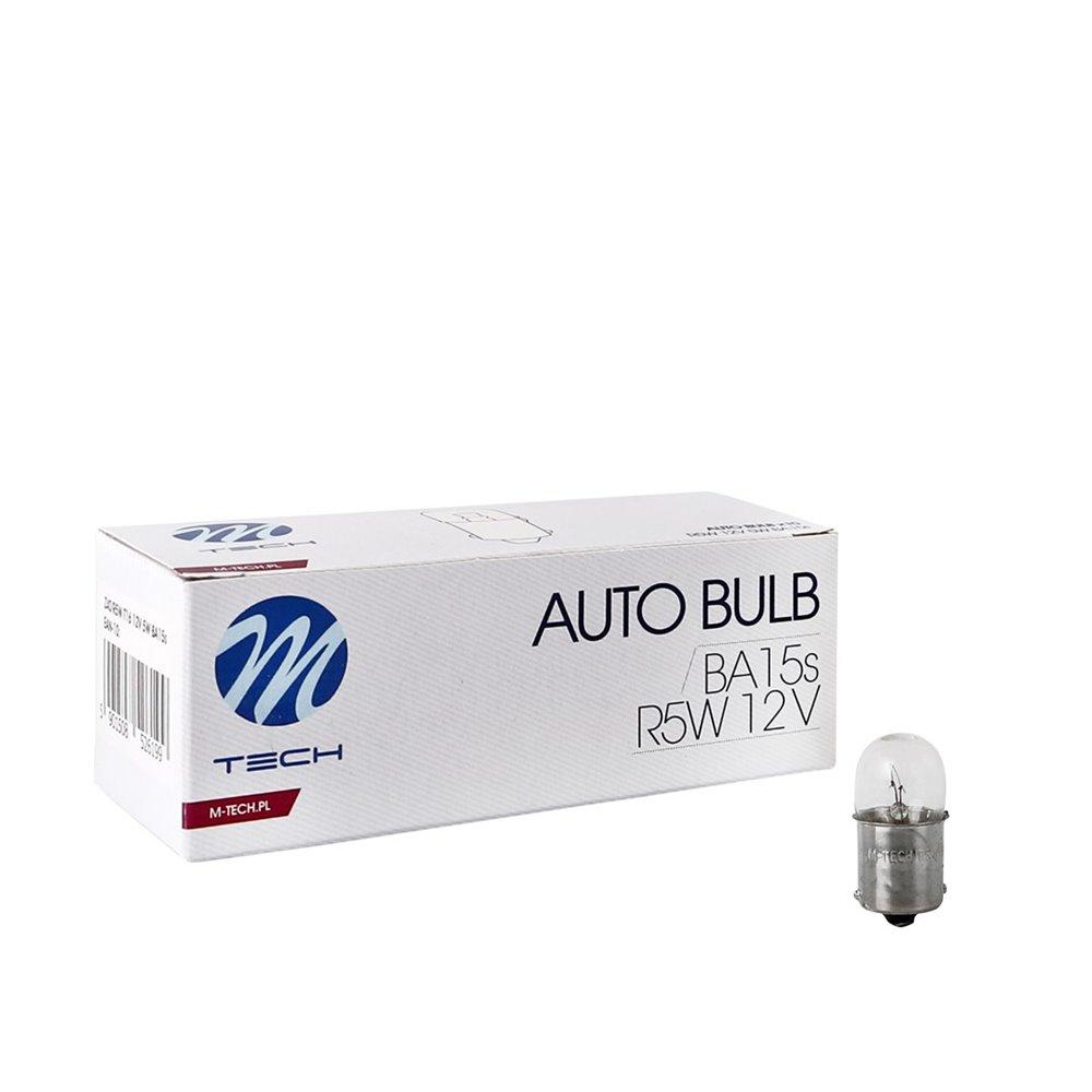 M-TECH bulb R5W BA15s 12V/5W CLEAR