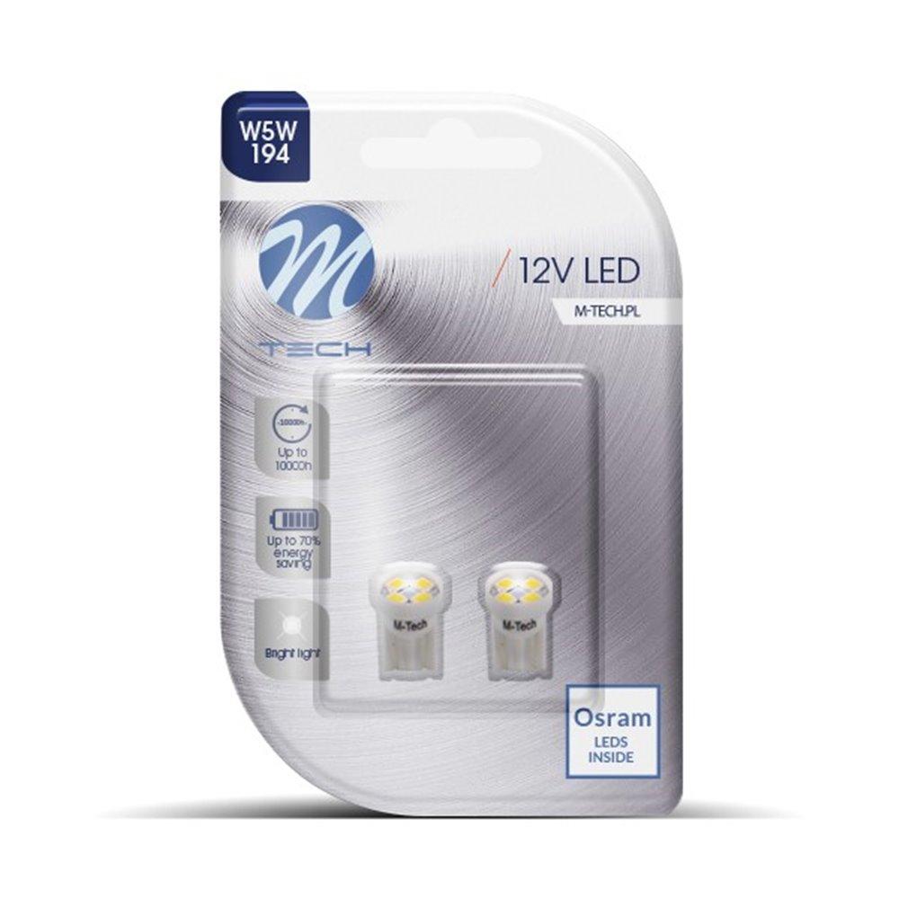 Blister 2x LED L017W - W5W 4xSMD3528 White