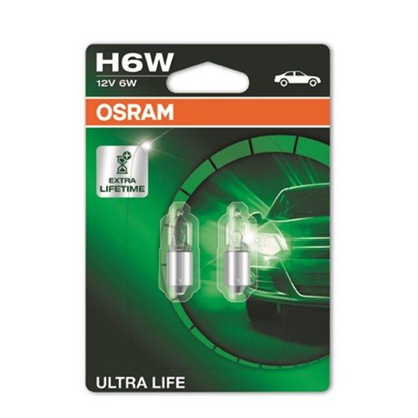 OSRAM Ultra Life 64132ULT-02B BAX9s 12V 6W H6W