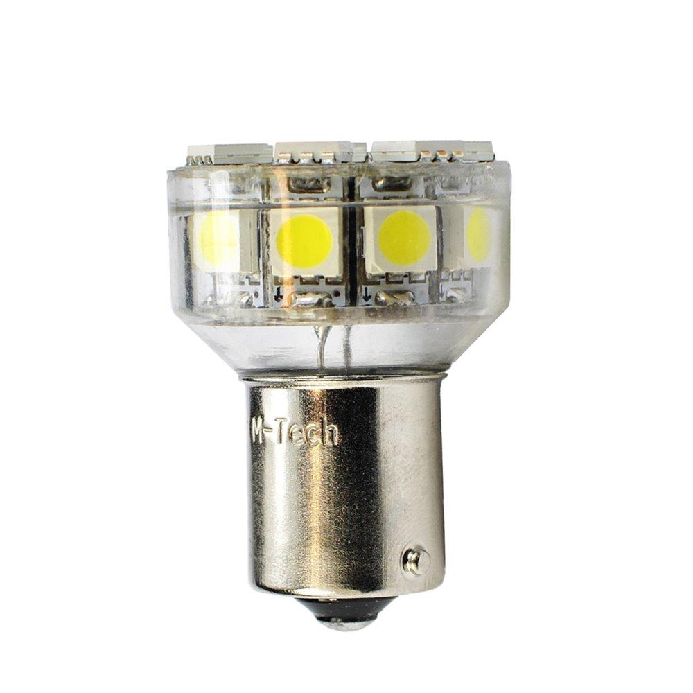 LED L076W - BAY15d 18xSMD5050 White