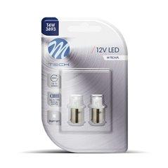 Blister 2x LED L007W - BA9s Concave White