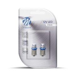 Blister 2x LED L007B - BA9s Concave Blue