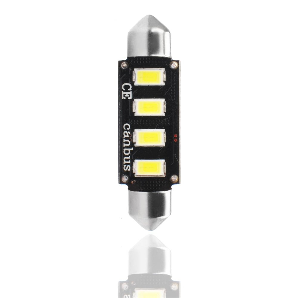 LED L335W - C5W 42mm 4xSMD5730 12V CANBUS White