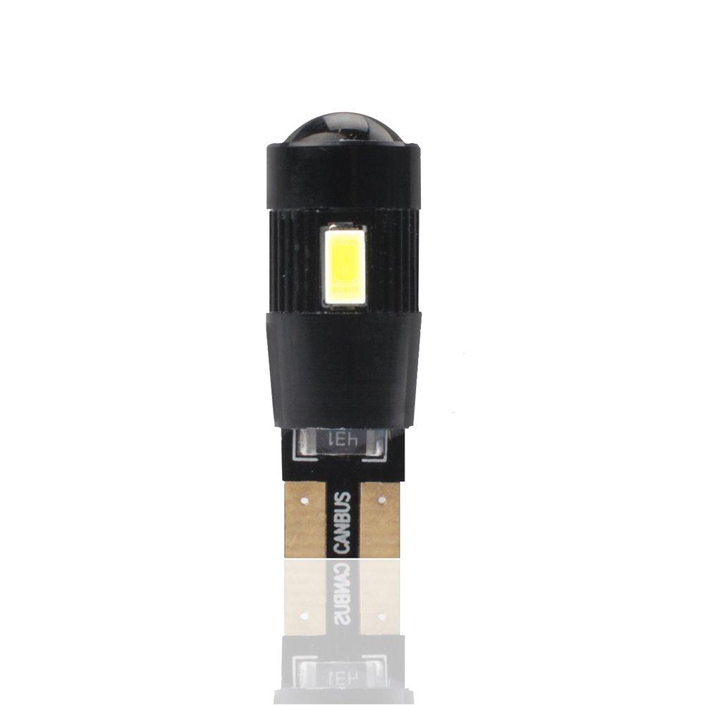 LED L339W - W5W 12V 6xSMD5730 Ring Lens CANBUS White
