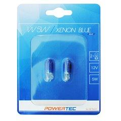 Powertec Xenon Blue W5W T10 5W 12V Wedge BLUE Blister