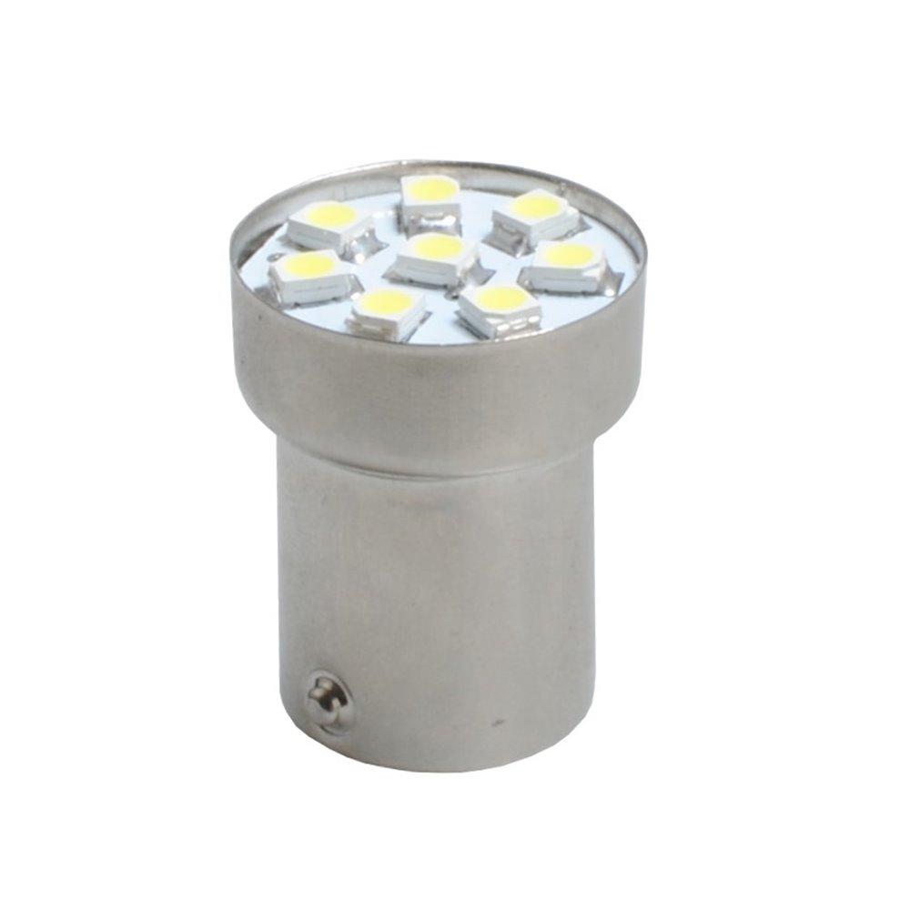 LED L988R - BA15s G18 8xSMD3528 Red 24V