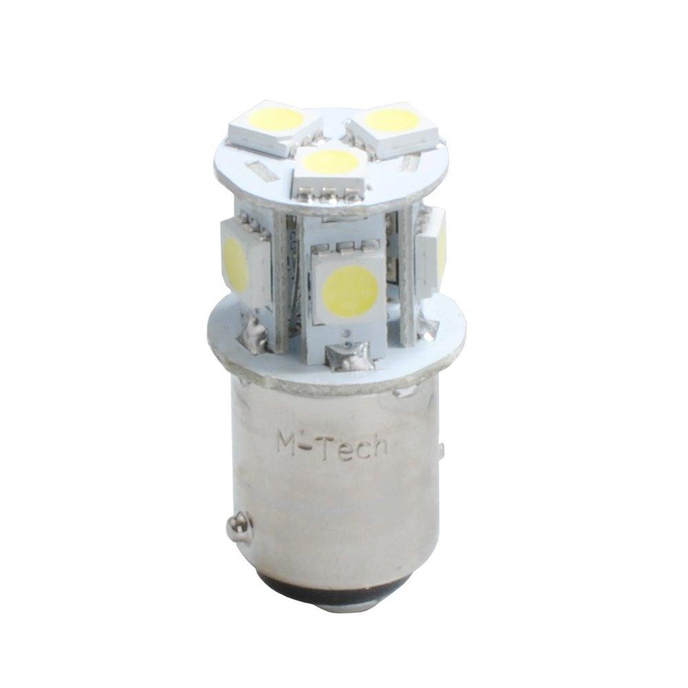 LED L989R - BAY15d 8xSMD5050 Red 24V