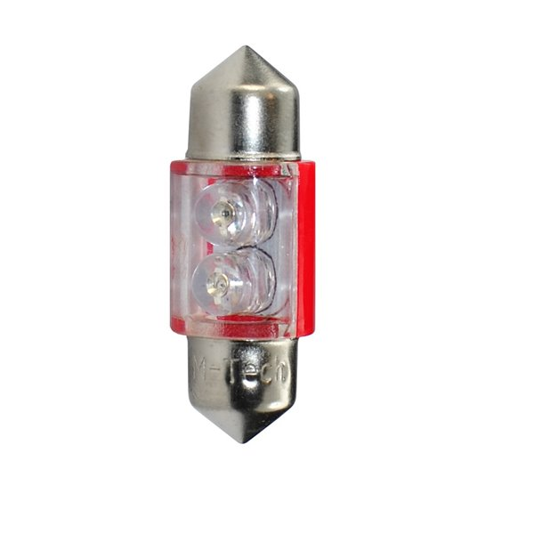 LED L025R - C5W 31mm 2xFlux Red