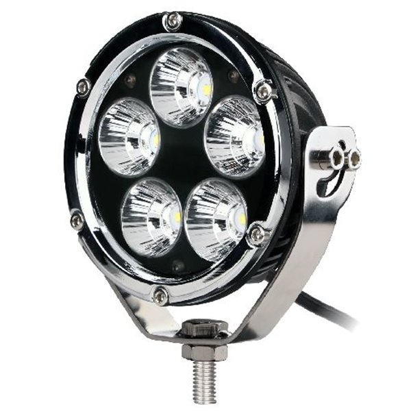 "Driving Light - Side Bracket - Round Chrome, CREE 50W 4"" Spot"