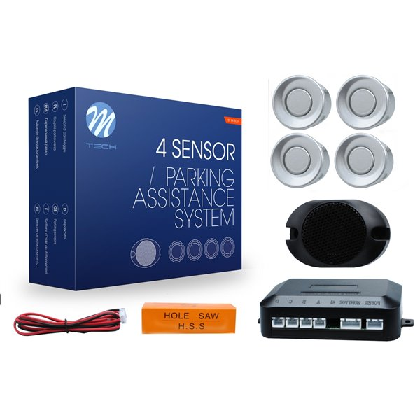 Parking assist system - CP17 with buzzer18 mm - silver
