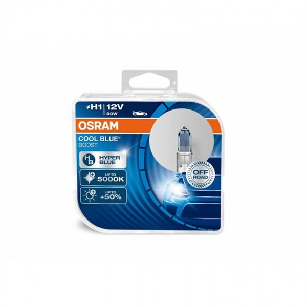 Halogen OSRAM COOL BLUE BOOST H1 P14.5s 12V 80W DUO
