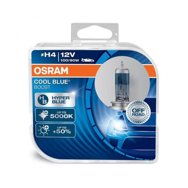 Halogen OSRAM COOL BLUE BOOST H4 P43t 12V 100/90W DUO