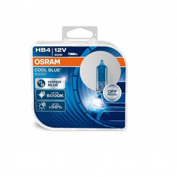 Halogen OSRAM COOL BLUE BOOST HB4 P22d 12V 80W DUO