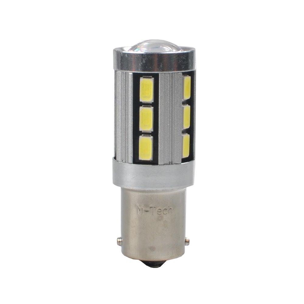 LED L355W - BA15s 18xSMD5730 CANBUS 12V White