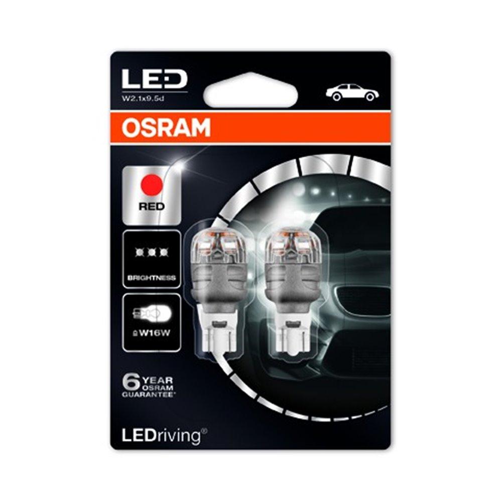 OSRAM LEDriving® 9213R-02B 2 W 12V W2.1x9.5d W16W  Red