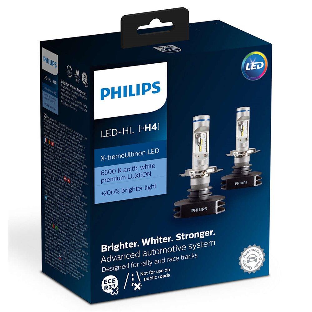 Philips LED H4 Premium 12901 HP 12V23W P43t-38 X2