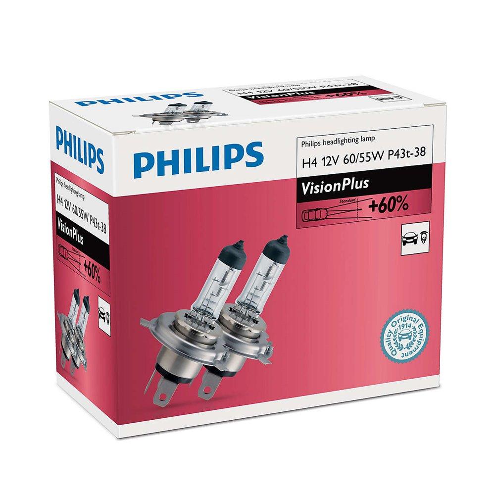 Philips H4 VisionPlus 12V60/55W P43t-38 C2