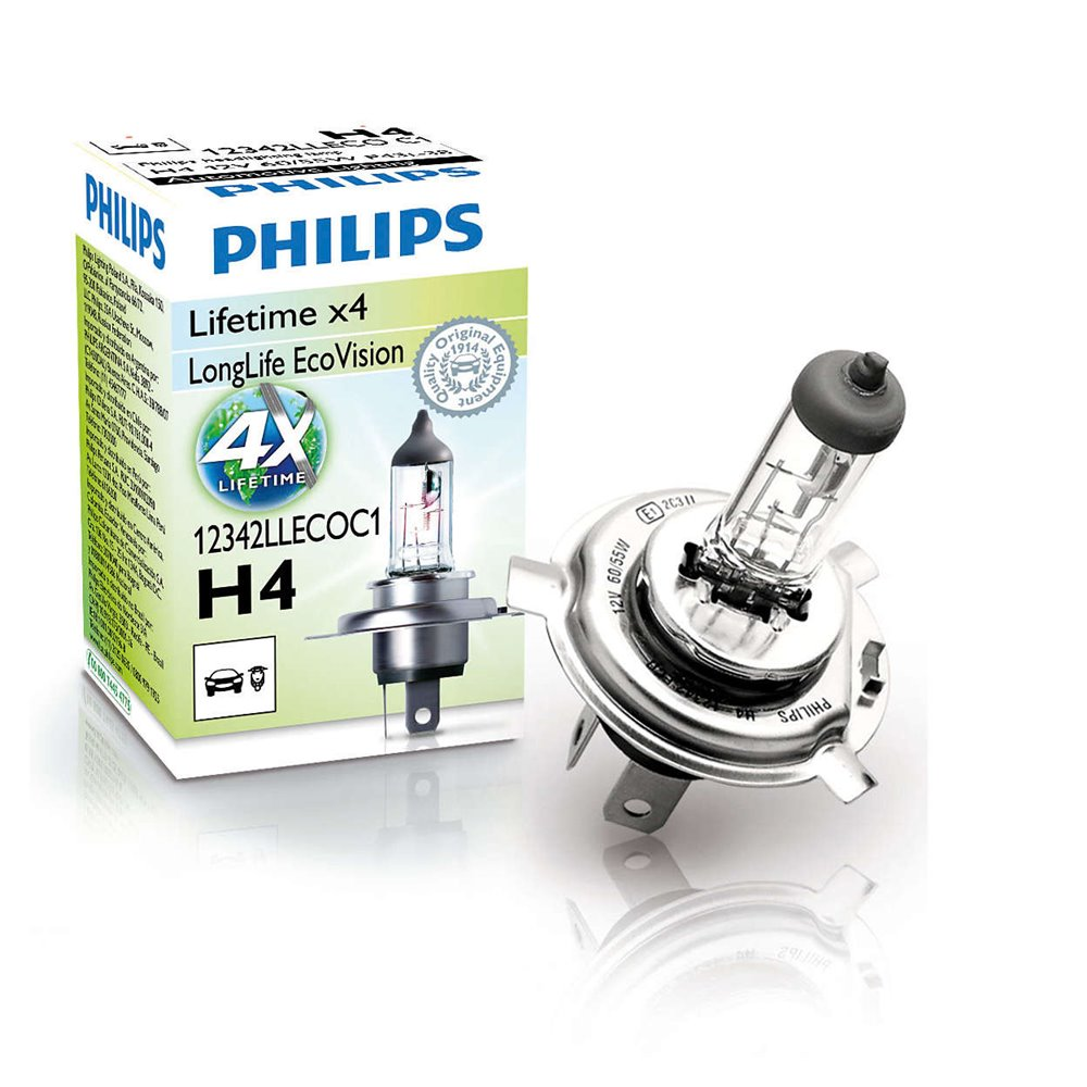 Philips H4 LongLife EcoVision 12V60/55W P43t-38 C1