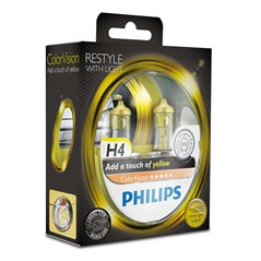 Philips H4 ColorVision Yellow 12V60/55W P43t-38 S2