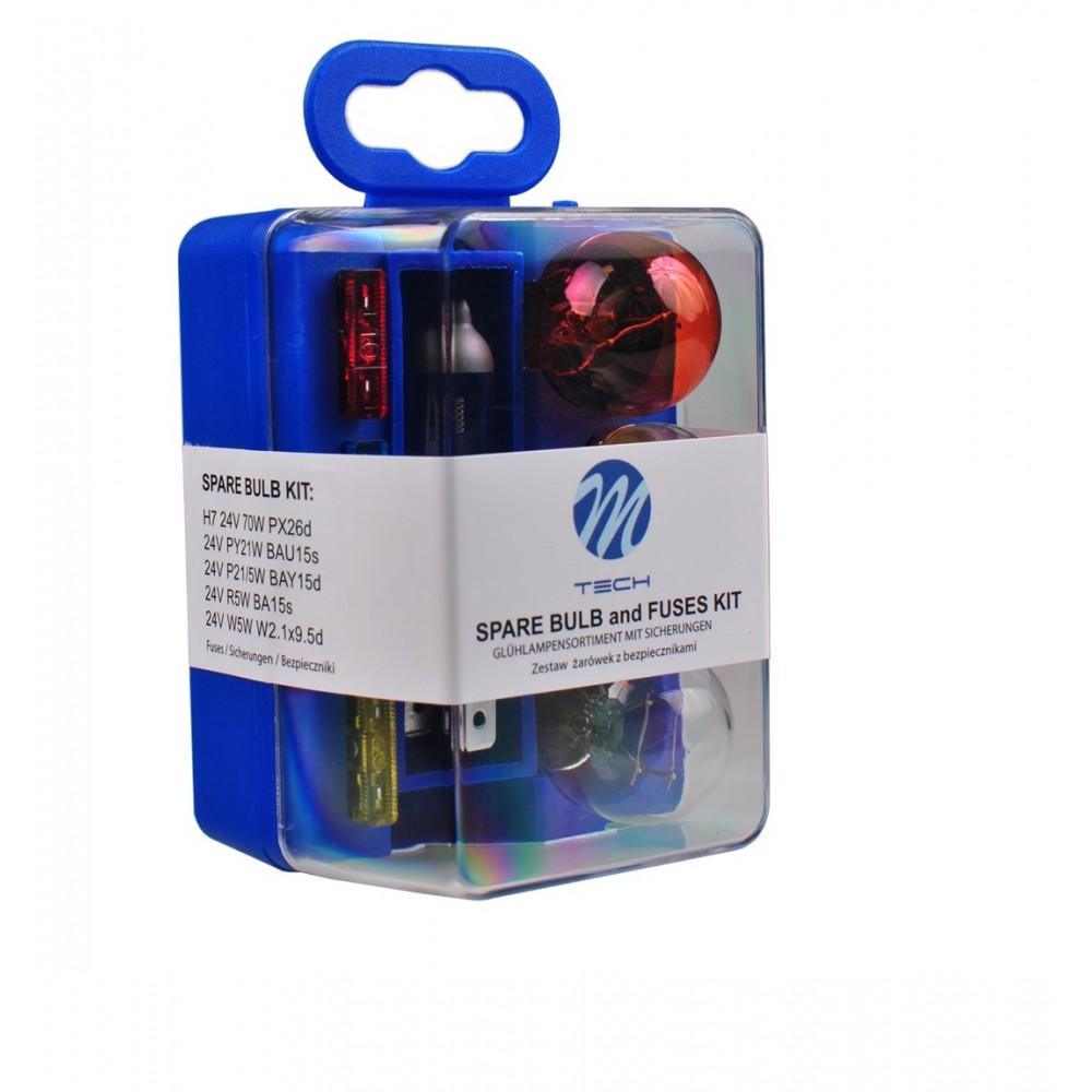M-Tech spare bulb set H7 24V