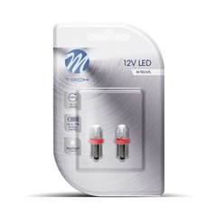 Blister 2x LED L011R - BA9s Diffusive Red