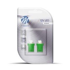 Blister 2x LED L012G - W5W 4LED 3mm Green