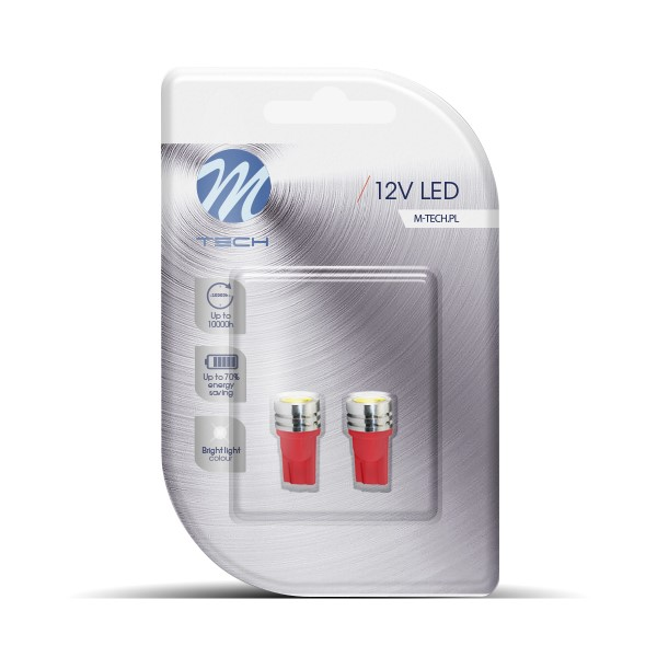 Blister 2x LED L014R - W5W HP Red