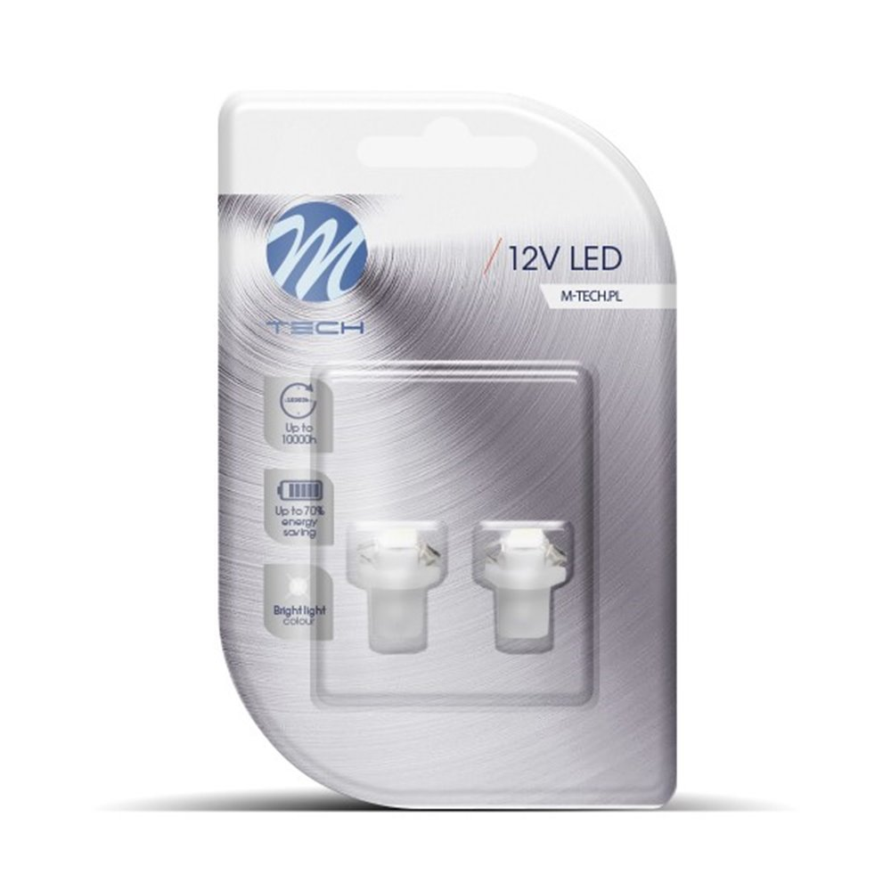 Blister 2x LED L092W - B8.5D 1xSMD5050 White