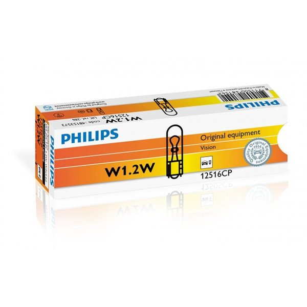 Philips Vision W1,2W - W2,3W - W2W - WBT5 W2x4,6d 12V 1.2W CP
