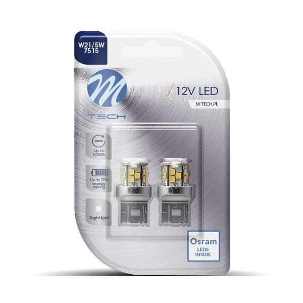 Blister 2x LED L115W - T20 W21/5W 21xSMD2835 White
