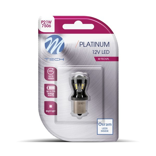 Blister 1x LED L820W - BA15S 14x2835SMD CANBUS 12-24V White