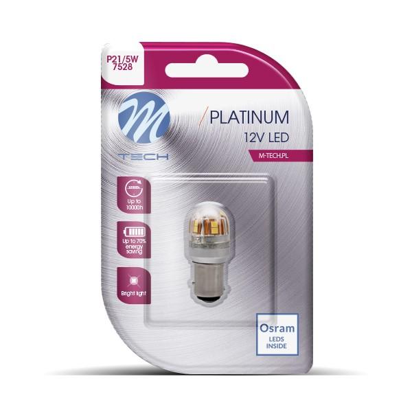 Blister 1x LED L827W - BAY15d 15x2835SMD CANBUS 12-24V White